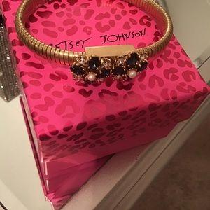 Betsy Johnson vintage blue gem bracelet